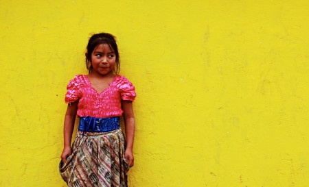 Local girl, Antigua, Guatemala.  2011.
