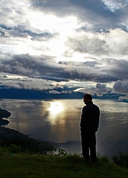 Sunrise on Lake Atitlan.  September, 2011.